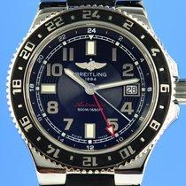 Breitling Superocean GMT Acero 41mm Negro