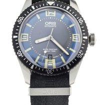 Oris Divers Sixty Five pre-owned 40mm Blue Date Textile