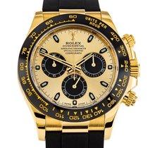 Rolex Daytona Желтое золото 40mm Золотой Без цифр