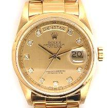Rolex Day-Date Желтое золото 36mm Золотой Без цифр
