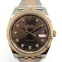 Rolex Datejust II Acero y oro 41mm Marrón Sin cifras España, Marbella