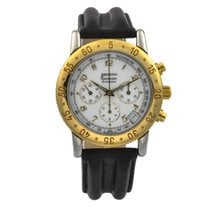 Zenith El Primero Chronograph pre-owned 38mm White Chronograph Date Tachymeter Leather