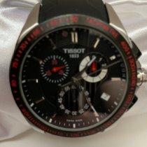 Tissot Veloci-T Steel Black Arabic numerals