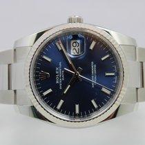 Rolex Oyster Perpetual Date Staal 34mm Blauw Nederland, Rijnsburg