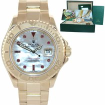 Rolex Yellow gold Automatic Mother of pearl 40mm pre-owned Yacht-Master 40