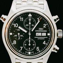 IWC Fliegeruhr Doppelchronograph Stahl 42mm Schwarz Arabisch Deutschland, Spaichingen