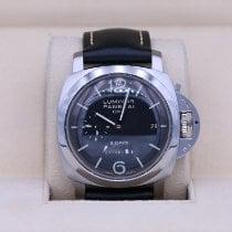 Panerai Luminor 1950 8 Days GMT Steel 44mm Black Arabic numerals