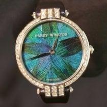 Harry Winston neu Quarz Edelstein- & Diamantenbesatz 36mm Weißgold