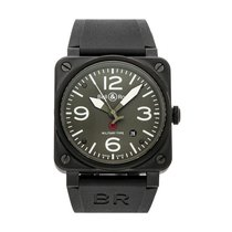 Bell & Ross Steel Automatic Green 42mm pre-owned BR 03-92 Ceramic