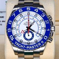 勞力士 Yacht-Master II 鋼 44mm 白色 無數字 香港