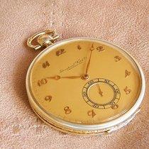 IWC Gelbgold 50mm Handaufzug IWC 14K Gold Pocket Watch gebraucht