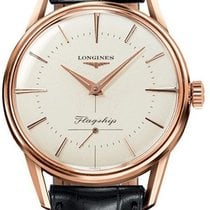 Longines Rose gold Automatic Silver 35mm new Flagship Heritage