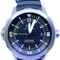 IWC Titanium Automatic Black No numerals 42mm pre-owned Aquatimer Automatic 2000