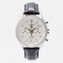 TAG Heuer Carrera Calibre 17 pre-owned Mother of pearl Leather