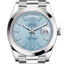 勞力士 Day-Date 40 新的 2021 自動發條 附正版包裝盒和原版文件的手錶 228206