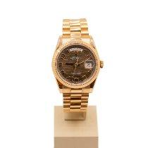 Rolex Pозовое золото Автоподзавод Коричневый 36mm новые Day-Date 36