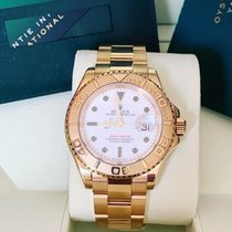 Rolex Yellow gold Automatic White No numerals 40mm new Yacht-Master 40