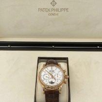 Patek Philippe Perpetual Calendar Chronograph Roségoud 40mm Zilver Geen cijfers