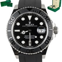 Rolex White gold Automatic Black 42mm pre-owned Yacht-Master 42