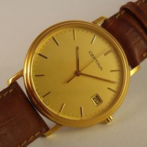 Certina pre-owned Quartz 33mm Yellow Sapphire crystal