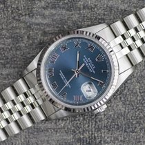 Rolex Datejust gebraucht 36mm Grau Datum Stahl