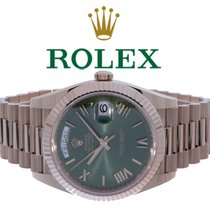 Rolex Day-Date 40 Roségold 40mm Grün Römisch Deutschland, Essen