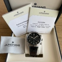 Junghans Steel Automatic Black Arabic numerals 43.2mm new Meister Pilot