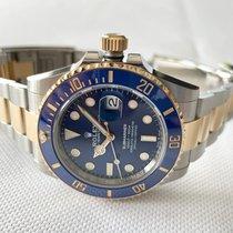 Rolex Submariner Date Or/Acier 41mm Bleu Sans chiffres France, Saran