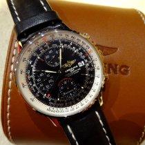 Breitling Navitimer Heritage gebraucht 42mm Schwarz Chronograph Datum Leder