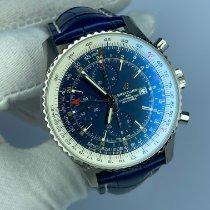 Breitling Navitimer World Acero 46mm Azul