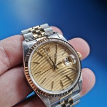 Rolex Datejust Gold/Steel 36mm Champagne No numerals Malaysia