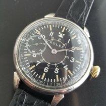 Rolex Uhr gebraucht 1920 Stahl 48mm Handaufzug Nur Uhr