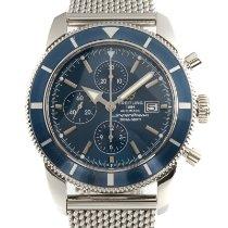 Breitling Superocean Heritage Chronograph Acier 46mm Bleu