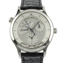 Jaeger-LeCoultre Master Geographic pre-owned 38mm Silver Date GMT Crocodile skin