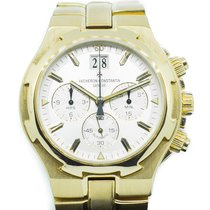 Vacheron Constantin Yellow gold Automatic Silver No numerals 40mm pre-owned Overseas Chronograph