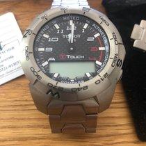 Tissot T-Touch Expert gebraucht Schwarz Chronograph Datum Wecker Titan