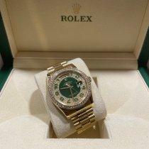 Rolex Or jaune Remontage automatique Vert Sans chiffres 36mm occasion Day-Date 36