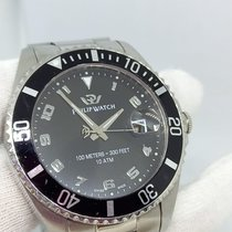 Philip Watch Caribe Steel 45mm Black Arabic numerals