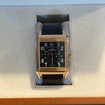 Jaeger-LeCoultre Reverso Squadra Chronograph GMT Oro rosa 35mm Negro Arábigos