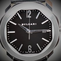 Bulgari pre-owned Automatic 41mm Black Sapphire crystal 5 ATM