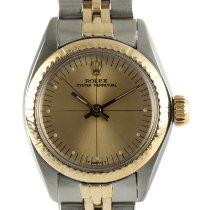 Rolex Oyster Perpetual 26 Ouro/Aço 26mm Ouro