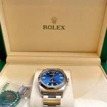 Rolex Oyster Perpetual 36 Acier 36mm Bleu Arabes France, Paris