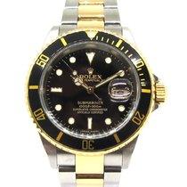 Rolex Submariner Date 16613 Gut Gold/Stahl 40mm Automatik