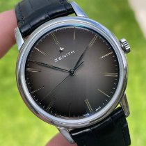 Zenith Steel Automatic Black No numerals 39mm pre-owned Elite