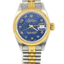 Rolex Oyster Perpetual Lady Date Gold/Steel 26mm Blue United States of America, New York, New York