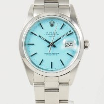 Rolex Oyster Perpetual Date pre-owned 34mm Blue Date Steel
