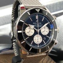 Breitling Superocean Heritage Chronograph Acero 44mm Negro Sin cifras