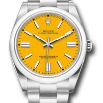 Rolex Acero Automático Amarillo Sin cifras 41mm nuevo Oyster Perpetual