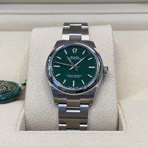 Rolex Oyster Perpetual 31 Stål 31mm Grønn Ingen tall