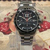 Longines Grande Vitesse Steel 42mm Black No numerals